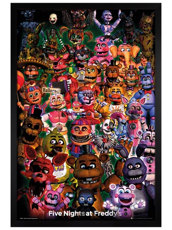 Black Wooden Framed Ultimate Group - Five Nights at Freddy's