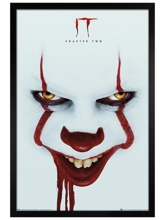 Black Wooden Framed The Dancing Clown - IT Chapter 2