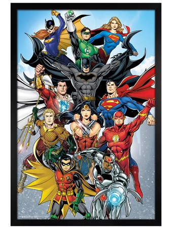 Black Wooden Framed Rebirth - DC Comics