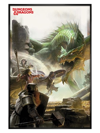 Gloss Black Framed An Epic Adventure - Dungeons & Dragons