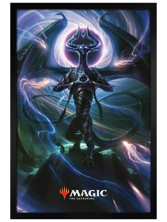 Black Wooden Framed Black Magic - Magic: The Gathering