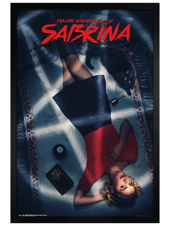 Black Wooden Framed A Witch And Her Familiar - The Chilling Adventures Of Sabrina