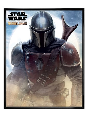 Gloss Black Framed The Mandolorian - Star Wars