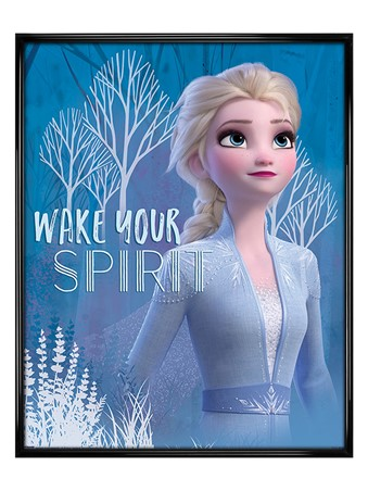 Gloss Black Framed Wake Your Spirit Elsa - Frozen 2