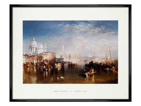 Gloss Black Framed Venice, 1840 - JMW Turner