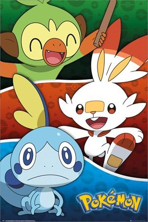 Galar Starters - Pokemon