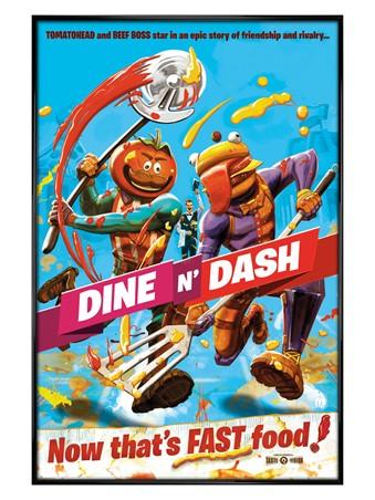 Gloss Black Framed Dine N Dash - Fortnite