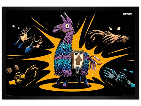 Black Wooden Framed Loot Llama - Fortnite