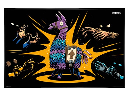 Gloss Black Framed Loot Llama - Fortnite