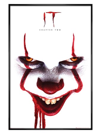 Gloss Black Framed Pennywise Face - IT Chapter Two