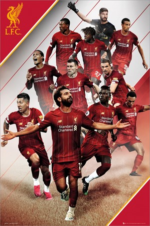 Players 19-20 Liverpool Football Club Poster