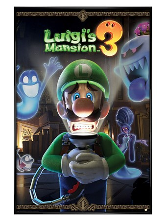 Gloss Black Framed You're In For A Fright - Luigi's Mansion 3