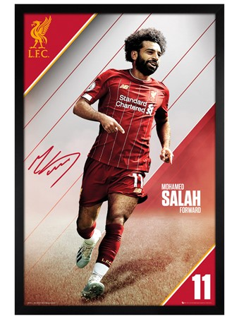 Black Wooden Framed Salah 19-20, Liverpool