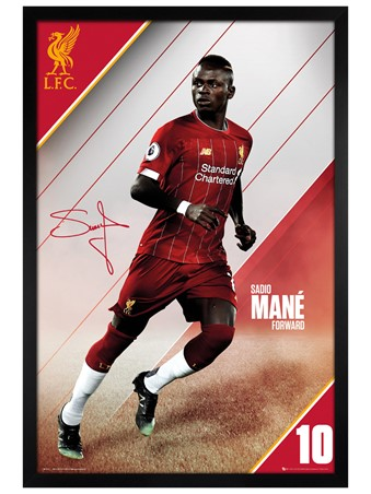 Black Wooden Framed Mane 19-20, Liverpool