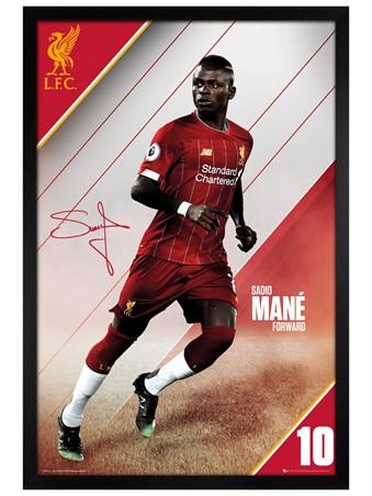 Black Wooden Framed Mane 19-20 - Liverpool
