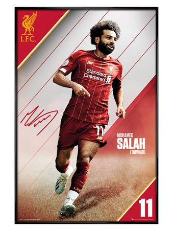Gloss Black Framed Salah 19-20, Liverpool