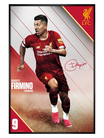 Gloss Black Framed Firmino 19-20 - Liverpool
