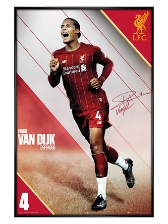 Gloss Black Framed Van Dijk 19-20 - Liverpool
