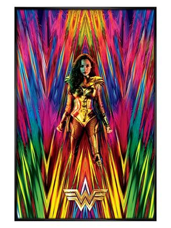 Gloss Black Framed Neon Static - Wonder Woman 1984