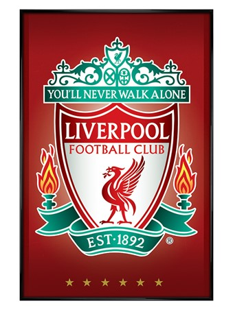 Gloss Black Framed Crest, Liverpool FC