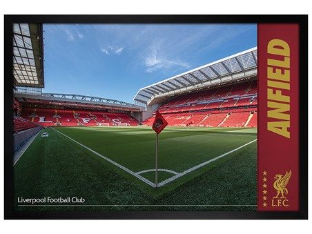 Black Wooden Framed Anfield, Liverpool FC