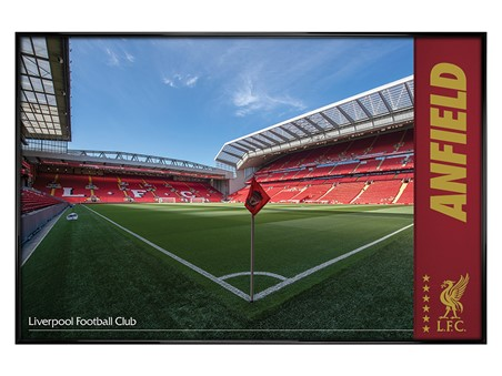 Gloss Black Framed Anfield, Liverpool FC