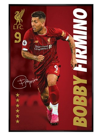 Gloss Black Framed Bobby Firmino, Liverpool FC