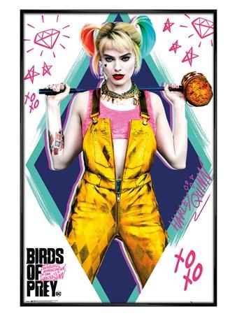 Gloss Black Framed Birds of Prey - Harley Quinn