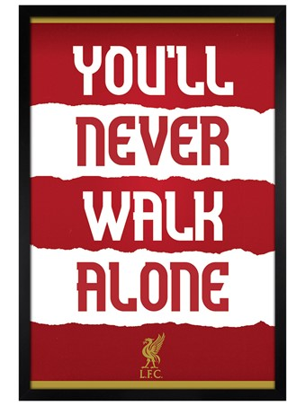 Black Wooden Framed You'll Never Walk Alone, Liverpool FC