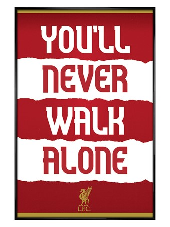 Gloss Black Framed You'll Never Walk Alone, Liverpool FC