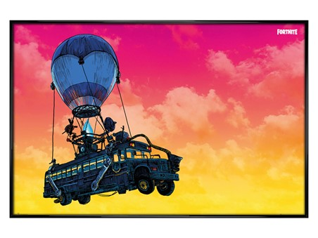 Gloss Black Framed Battle Bus, Fortnite