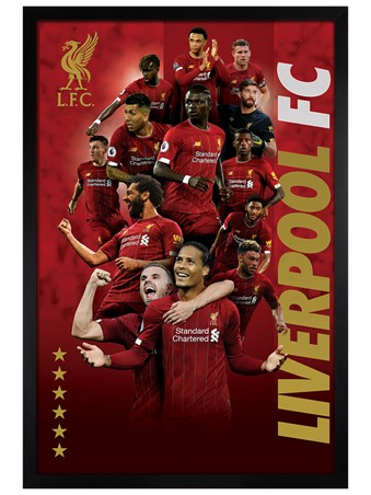 Black Wooden Framed Players 2019-20, Liverpool FC