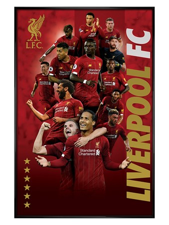Gloss Black Framed Players 2019-20, Liverpool FC