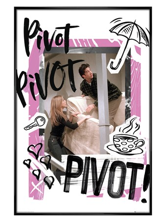 Gloss Black Framed Pivot - Friends