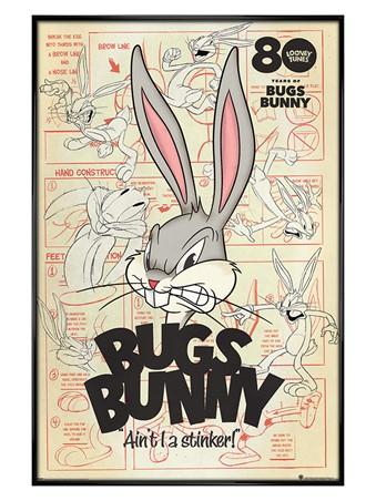 Gloss Black Framed Bugs Bunny Aint I a Stinker - Looney Tunes