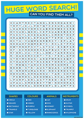 Can You Find You Them All? - Huge Children's Word Search