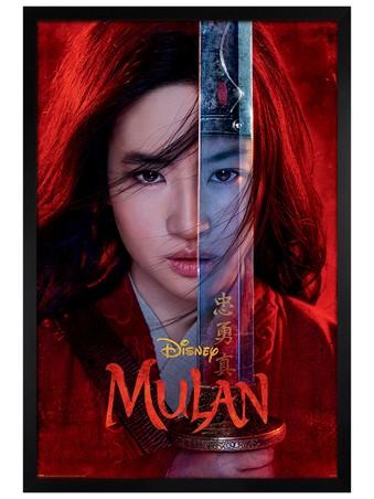 Black Wooden Framed Be Legendary - Mulan Movie