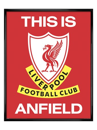 Gloss Black Framed This is Anfield, Liverpool FC
