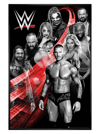 Gloss Black Framed Swoosh, WWE Superstars