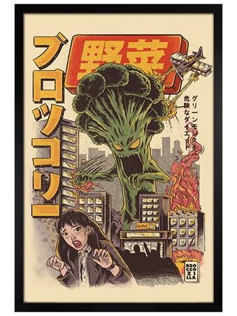 Broccozilla Framed Poster
