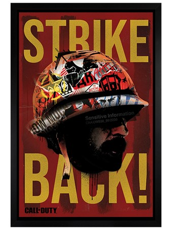 Black Wooden Framed Strike Back Framed Poster