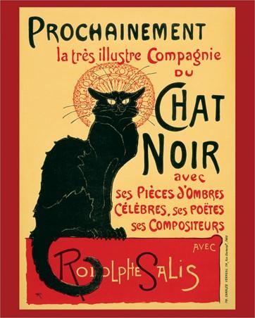 Tournee du Chat Noir (Turn of the Black Cat), Theophile Alexandre Steinlen