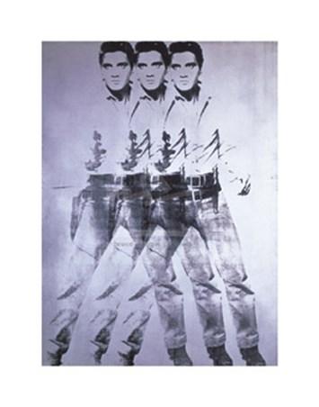 Elvis, 1963 (triple Elvis) - by Andy Warhol