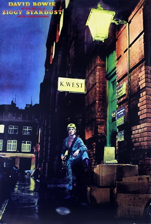 Ziggy Stardust Album Cover, David Bowie