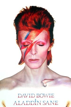 Aladdin Sane Album Cover Art 1973 - David Bowie Album Covers