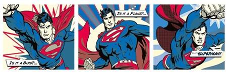 Superhero Triptych - Superman