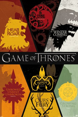 Framed Sigils - Game of Thrones