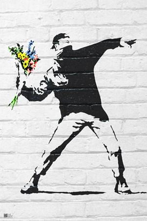 Flower Bomber, Banksy