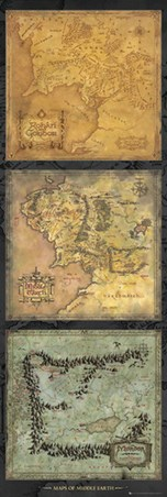 Maps Of Middle Earth - Lord of the Rings