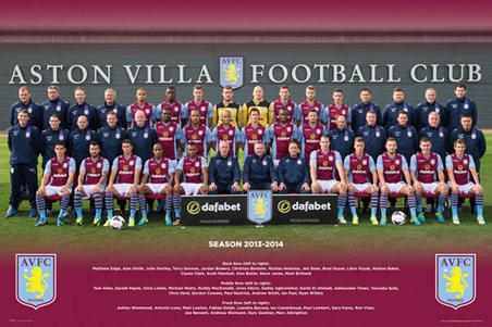 Aston Villa Team Photo 2013/14 - Aston Villa Football Club